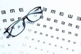 Glasses And Eye Chart On White Background Photo Free Download