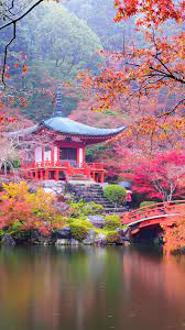 Japan, Kyoto, park, pagoda, colorful ...