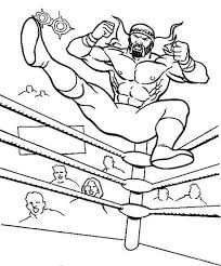Small Picture Wrestler Jump from Wrestling Ring Coloring Page Color Luna