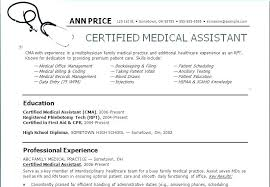 Sample High School Resumes Simple Skills Example Resume Medical Assistant Example Resume