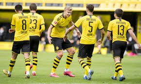 First mentioned as throtmanni in 885, dortmund became a free imperial city in 1220 and later joined the hanseatic league. Borussia Dortmund 4 0 Schalke Bundesliga Returns As It Happened Football The Guardian