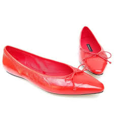 details about zara basic patent red leather ballerina flats 2516 301 size 5 36 women s shoes