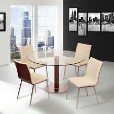 armen living cafe 34 in white faux leather and brushed stainless steel dining chair