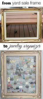 Jewelry Organizer Diy Best 25 Hanging Jewelry Organizer Ideas On Pinterest Diy