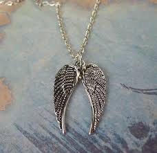 double angel wings necklace