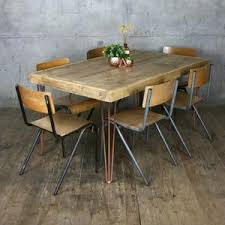 Hairpin dining table Diy Hairpin Rustic Copper Hairpin Dining Table one In Stock Mustard Vintage Hairpin Leg Vintage Industrial Dining Table 190 90cm Mustard