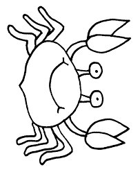 Small Picture Crab Coloring Pages