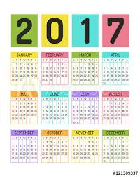 Calendar Blocking Template Color Block Calendar Template For 2017 Year Buy This Stock