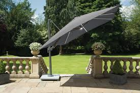 Grey Cantilever Parasol With Lights Norfolk Leisure Palermo 3 X 3m Cantilever Parasol With Led Lights