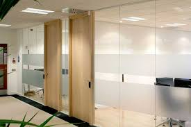 timber doors glass office divider