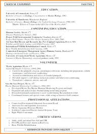 Education Section Of A Resume Englishor Com