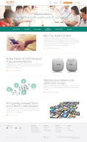 Company Overview Templates Page Templates Web Style Guide Aruba A Hewlett Packard