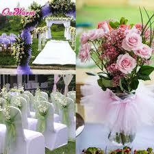 Tulle Fabric Wedding Decorations Popular Crystal Organza Fabric Crafts Buy Cheap Crystal Organza