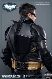 the dark knight rises batman leather motorcycle back pack image 1
