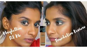 Maybelline Skin Tone Chart Maybelline Fit Me Foundation 330 332 Review And Wear Test Anusha Swamy