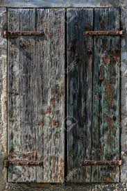 Peeling Farbe Auf Alte Fensterläden Aus Holz Auf Einer Alten Scheune
