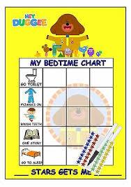 Bedtime Chart Childrens Bedtime Routine Reward Chart Hey Duggee 2 99