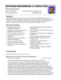Software Engineer Resume Format Free Resume Templates
