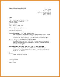 5 Outline For Cover Letter Resume Setups