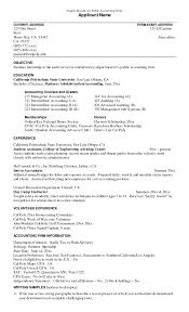 Best Resume Objective Examples Accounting Internship