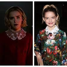 "Chilling Adventures of Sabrina"" Casts Kiernan Shipka's Doppelgänger Mckenna  Grace as Young Sabrina   Teen Vogue"