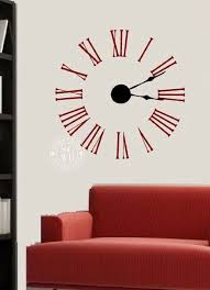 large wall clock decal kit with working