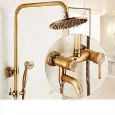 Retro Messinghahn Dusche Suite Luxus Duschsysteme Umfassen Umfassen