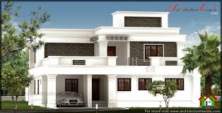Square House Roof Design Corbel Style House Elevation With Big Pillar 2500 Square