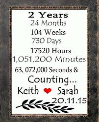 best 25 second anniversary gift ideas on pinterest second Wedding Anniversary Gifts Under 200 2 years and counting initials heart love canvas art print custom 2nd 2 year anniversary quotes2nd wedding anniversaryanniversary gifts Gifts for Women $200