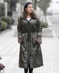 real fur coats jackets women s full length hooded parka with fox fur trimmed throughout 407 ping fur fashions