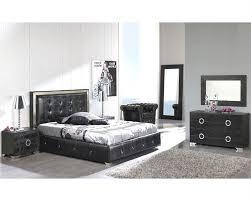 Modern Bedroom Black Bedroom Set Valencia In Black Made In Spain 33b251