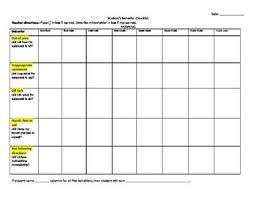Fourth Grade Behavior Chart 30 Minute Interval Behavior Chart
