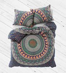 com madhu international exclusive badmeri mandala duvet cover with pillowcases by ombre mandala quilt cover donna cover home kitchen
