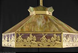 favorites stained glass 1915 antique ceiling light fixture windmill design