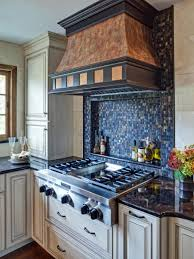 Clear Glass Backsplash Interior Kitchen Backsplash Glass Tile Blue With Regard To