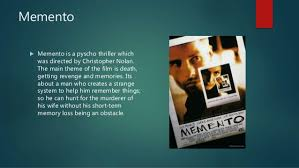 memento video essay memento  memento