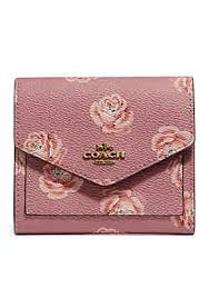 COACH Rose Print Small Wallet ...