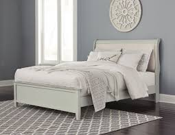 trishley bedroom set luxury signature design by ashley jorstad gray upholstered sleigh bedroom