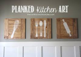 artwork for kitchen planked kitchen art feature by the contractor chronicles artwork kitchener waterloo artwork for kitchen