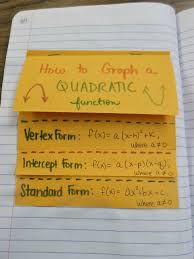 quadratic equations foldable for an interactive notebook