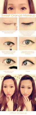 rinnieriot orange korean ulzzang makeup tutorial by jenny we heart it