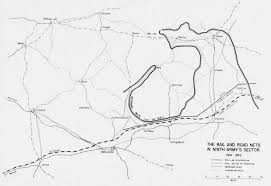 Sketch 5 the rail and road s in ninth army's sector 1941 1941
