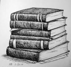 pile of books drawing books