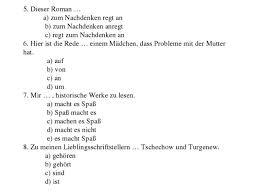 Контрольная работа по немецкому языку по теме Проблемы молодежи 5 dieser r a zum nachdenken regt an b zum nachdenken anregt