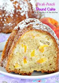 Peach Kitchen Fresh Peach Pound Cake Cant Stay Out Of The Kitchen