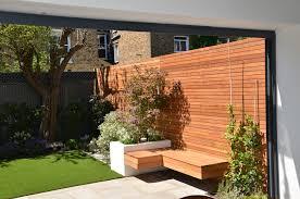 Modern Small Garden Design Photos Modern Small Garden Design London Designer Hardwood Screen