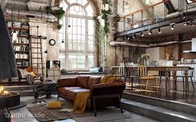 Industrial Living Room Luxurious Living Room Design With Modern Classic Interior