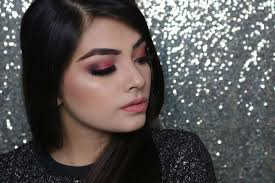 makeup look using huda beauty rose gold palette