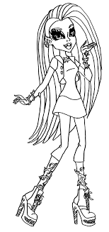 Small Picture Coloring Pages Free Printable Monster High Coloring Pages Frankie