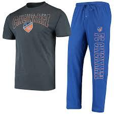 Men's FC Cincinnati <b>Concepts</b> Sport Charcoal/<b>Blue</b> T-Shirt & Pants ...